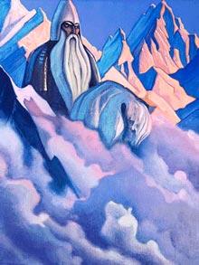 Н.К.Рерих. Святогор, 1938 г. Государственный музей искусства народов Востока. Россия. Москва. Холст, темпера. 124 x 91 см.
